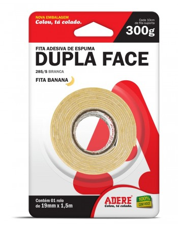 FITA DUPLA FACE ADERE FIXACAO 19X15M